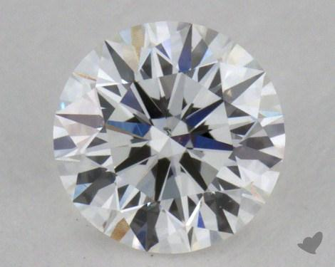 0.37 Carat F-SI1 Excellent Cut Round Diamond