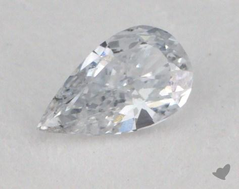 0.22 Carat very light blue-SI1 Pear Shaped  Diamond