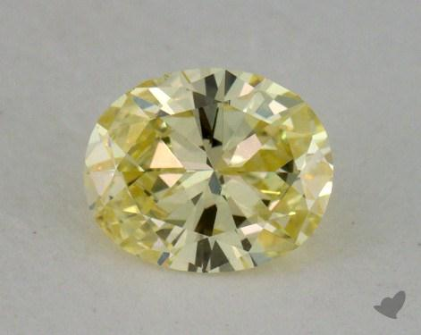 0.41 Carat fancy yellow-VS2 Oval Cut  Diamond