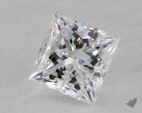 0.52 Carat E-SI1 Ideal Cut Princess Diamond