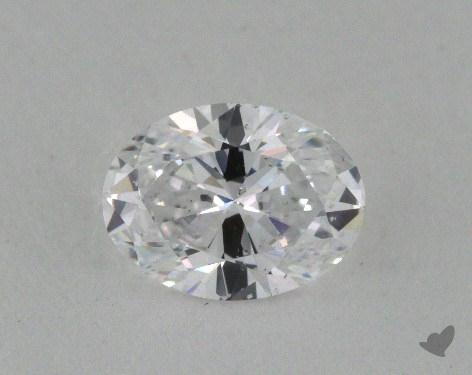 0.53 Carat D-SI2 Oval Cut Diamond