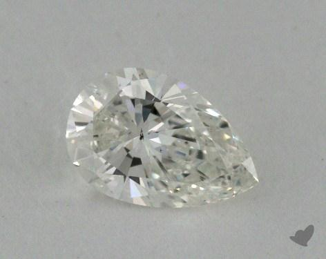0.53 Carat H-SI1 Pear Shaped  Diamond