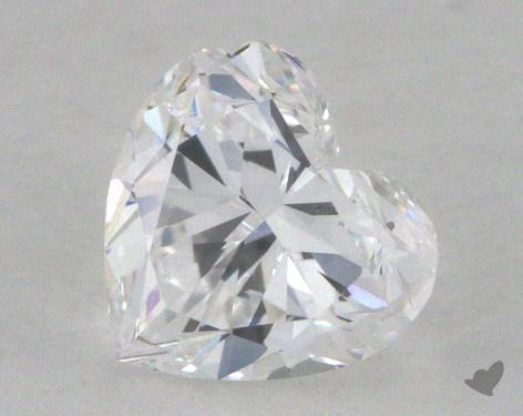 0.71 Carat D-SI2 Heart Shaped  Diamond