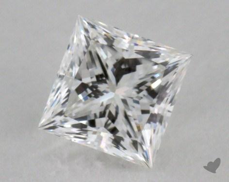 0.79 Carat F-VVS1 Ideal Cut Princess Diamond