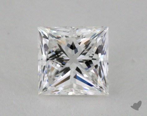 0.91 Carat E-VS2 Ideal Cut Princess Diamond