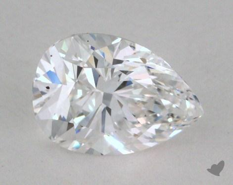 0.74 Carat D-SI2 Pear Shape Diamond