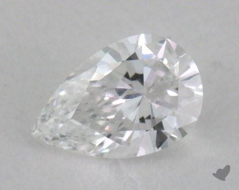 0.34 Carat D-VVS1 Pear Shape Diamond