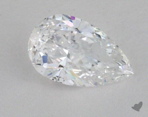 2.18 Carat D-SI2 Pear Cut Diamond