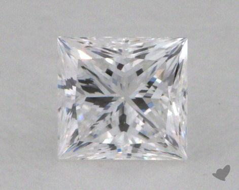 0.59 Carat D-VS1 Ideal Cut Princess Diamond