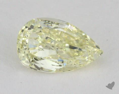 0.98 Carat fancy light yellow-VS1 Pear Shape Diamond