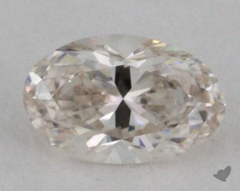 0.38 Carat H-SI1 Oval Cut Diamond