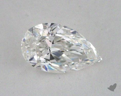0.77 Carat F-IF Pear Cut Diamond