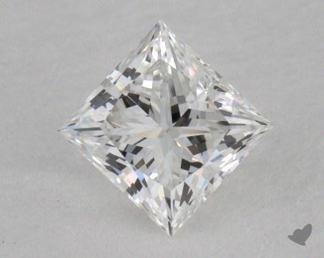 0.41 Carat E-VVS1 Ideal Cut Princess Diamond