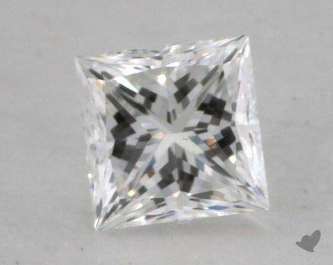 0.53 Carat F-VS1 Ideal Cut Princess Diamond