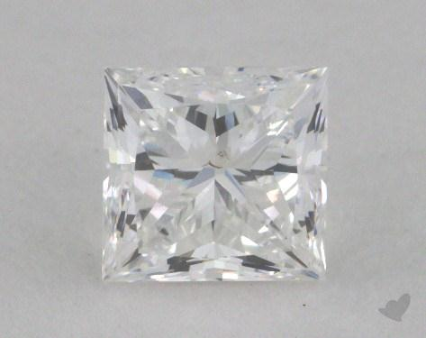 0.66 Carat E-SI1 Ideal Cut Princess Diamond