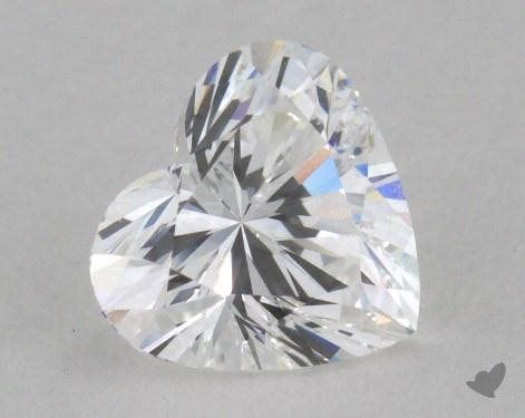 0.96 Carat D-VVS1 Heart Cut Diamond 