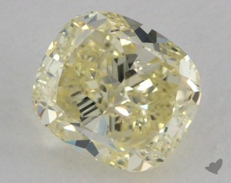 1.77 Carat fancy light yellow-VS2 Cushion Cut Diamond