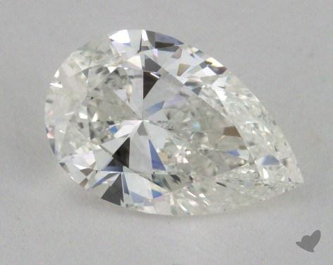 1.51 Carat H-SI2 Pear Shaped  Diamond