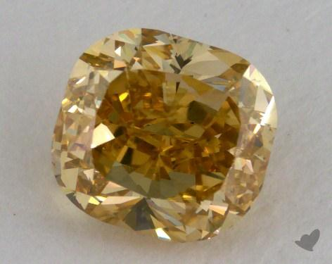 1.47 Carat fancy brownish yellow-SI1 Cushion Cut Diamond