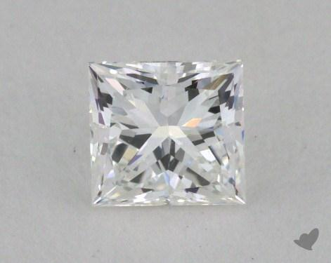 0.41 Carat E-VVS1 Ideal Cut Princess Diamond