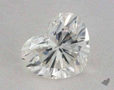 1.55 Carat J-SI1 Heart Cut Diamond 