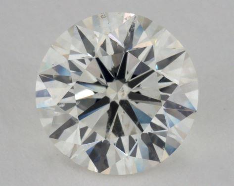 2.52 Carat J-SI2 Very Good Cut Round Diamond