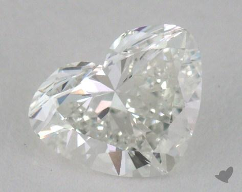 1.00 Carat G-SI1 Heart Cut Diamond 