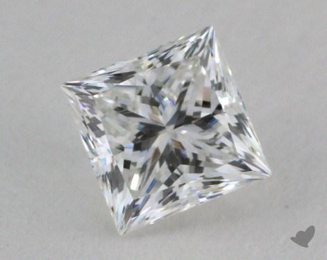 0.73 Carat E-VVS1 Ideal Cut Princess Diamond