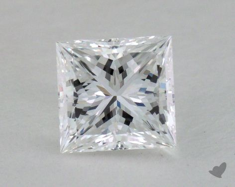 1.07 Carat D-VVS2 Princess Cut Diamond