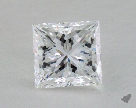 1.07 Carat D-VVS2 Ideal Cut Princess Diamond