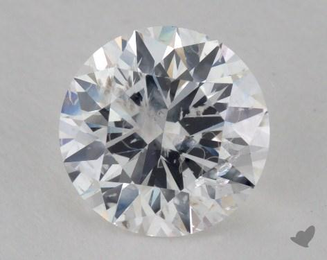 1.86 Carat F-I1 Good Cut Round Diamond