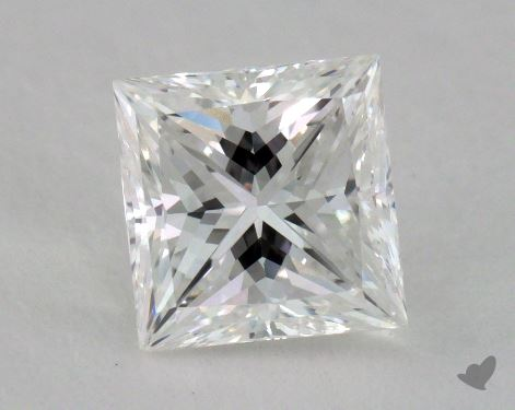1.00 Carat F-SI1 Ideal Cut Princess Diamond