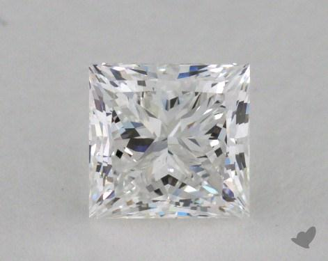 0.79 Carat F-VVS2 Ideal Cut Princess Diamond