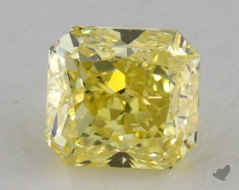 1.00 Carat fancy yellow-VS2 Radiant Cut Diamond