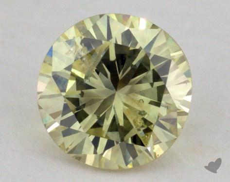 1.28 Carat fancy yellow Round Cut Diamond
