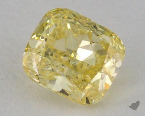 0.86 Carat  yellow-SI2 Cushion Cut Diamond