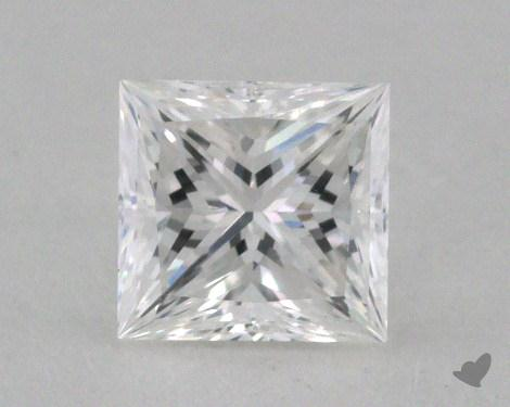 0.44 Carat E-VS2 Ideal Cut Princess Diamond