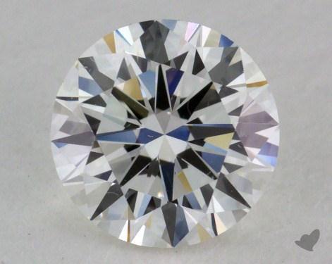 0.90 Carat F-SI1 Very Good Cut Round Diamond