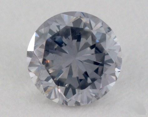 0.18 Carat fancy gray blue Round Cut  Diamond