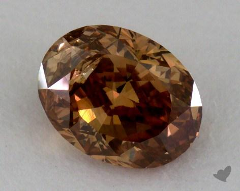 1.04 Carat fancy dark orange brown Oval Cut  Diamond