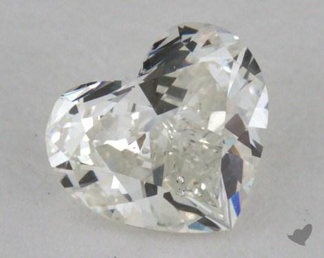 0.71 Carat H-SI2 Heart Cut Diamond 