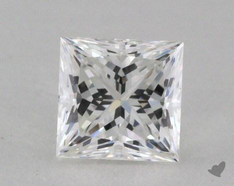 0.78 Carat E-VVS2 Ideal Cut Princess Diamond