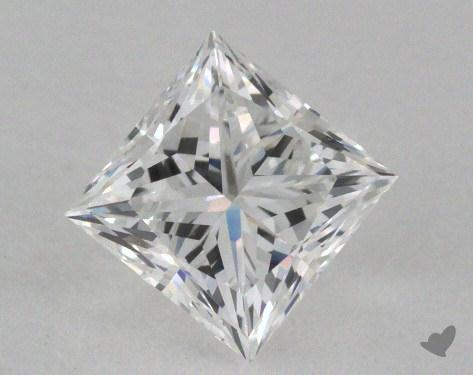 0.76 Carat E-VS1 Ideal Cut Princess Diamond