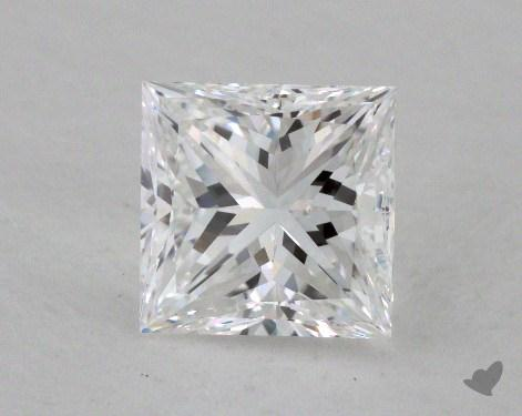 1.23 Carat E-SI1 Ideal Cut Princess Diamond