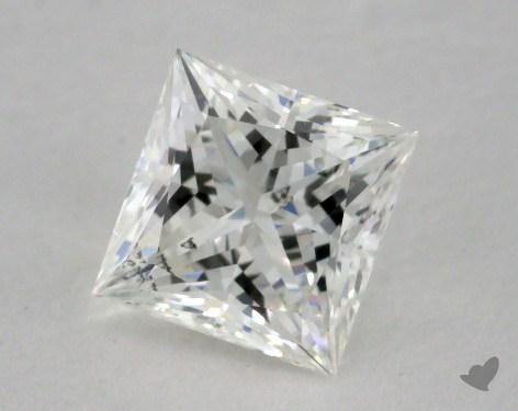 0.91 Carat H-SI2 Princess Cut Diamond