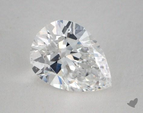 1.74 Carat D-SI1 Pear Cut Diamond 