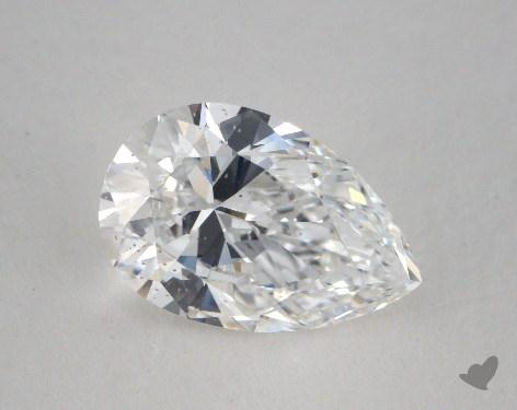1.86 Carat D-SI1 Pear Shaped  Diamond