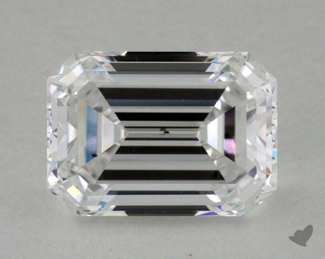 2.08 Carat D-SI1 Emerald Cut Diamond