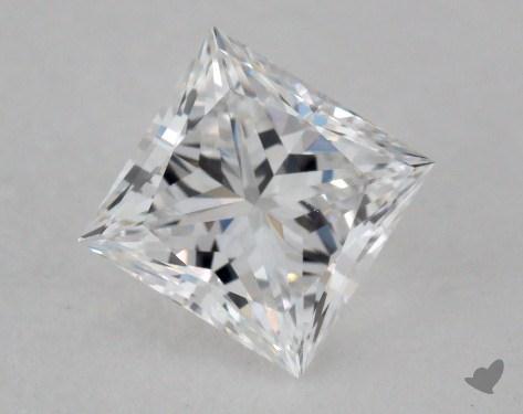 0.74 Carat E-VS2 Ideal Cut Princess Diamond