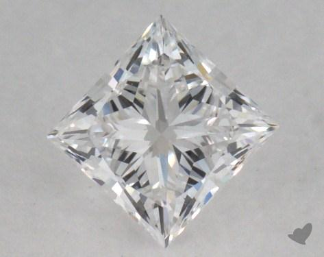 0.50 Carat E-VVS1 Very Good Cut Princess Diamond